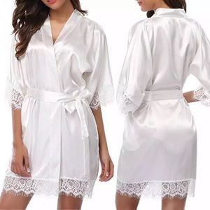 Other - Bride sexy lace short robe